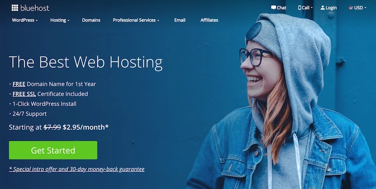 Bluehost Webhosting services