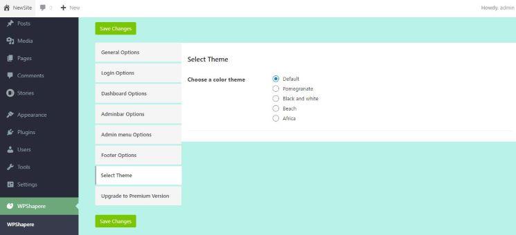 Free admin plugin for WordPress