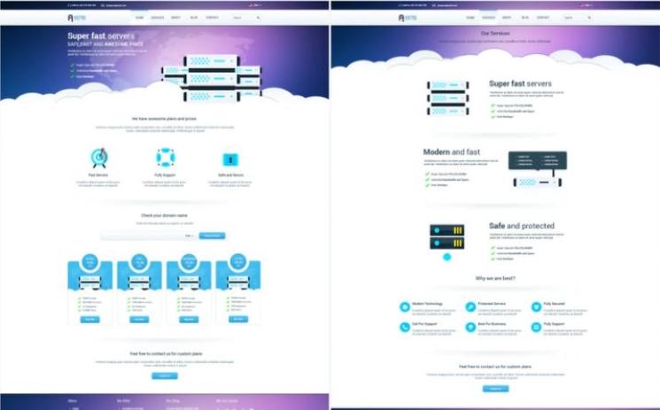 Free PSD for Web development