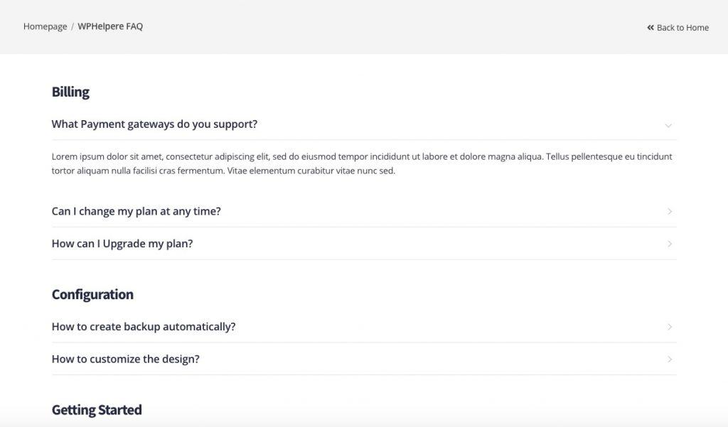 WordPress Knowledge base FAQ system