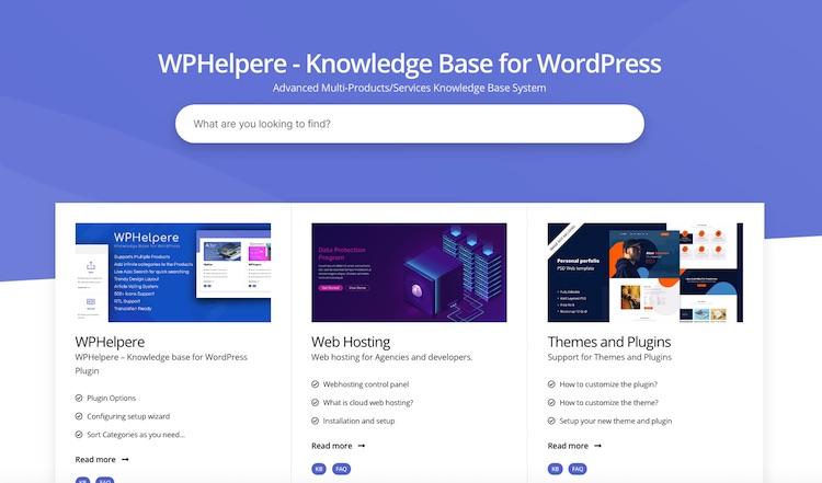 WPHelpere – A New era WordPress Knowledge Base