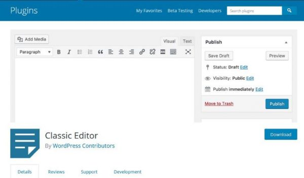 How to switch between WordPress classic editor and Gutenberg