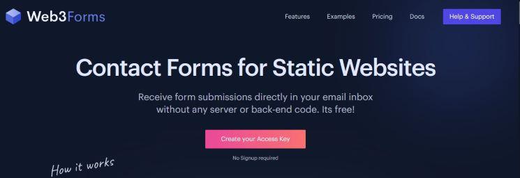 Website form integration